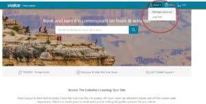 viator travel agent program homepage login dropdown