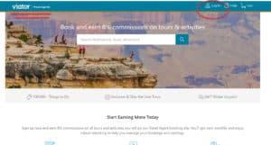 viator travel agent program homepage login