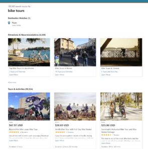 bike tours search results