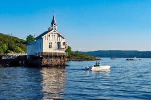 Oslo church on the water