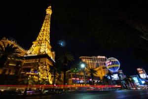 Eiffel Tower and Paris Hotel in Las Vegas, Nevada.