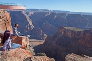 Sunset helicopter tour to the Grand Canyon West Rim