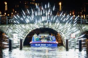 light festival blue boat