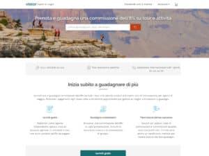travel agent program homepage in italian