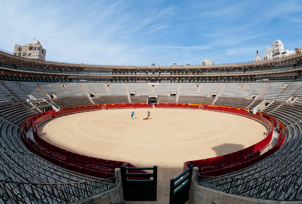 Matador, empty arena