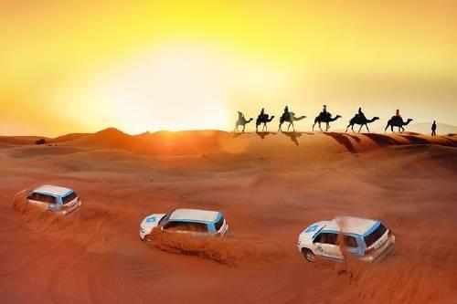 Premium Red Dunes & Camel Safari with BBQ at Al Khayma Camp by OceanAir™️-500x333