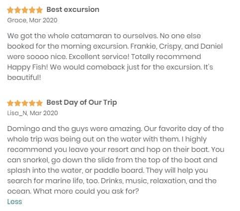 Happy Fish Catamarans - Reviews