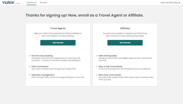 Enrol in travel agent program or affiliate program