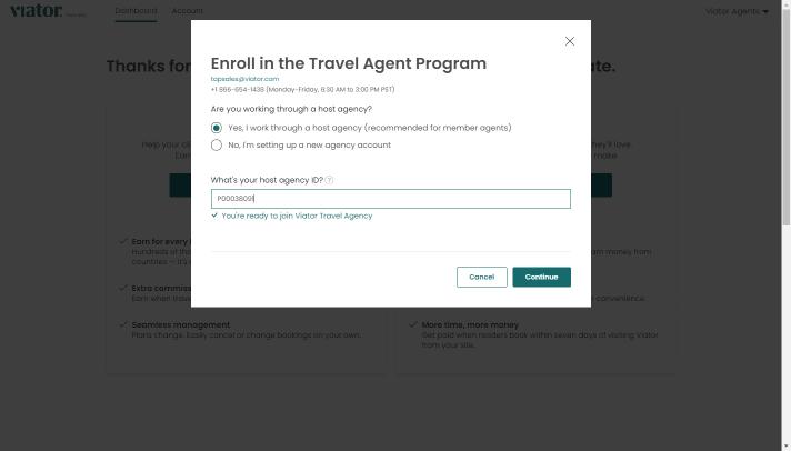 join host agency ID