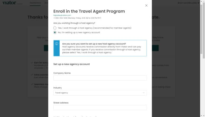 set up agency account
