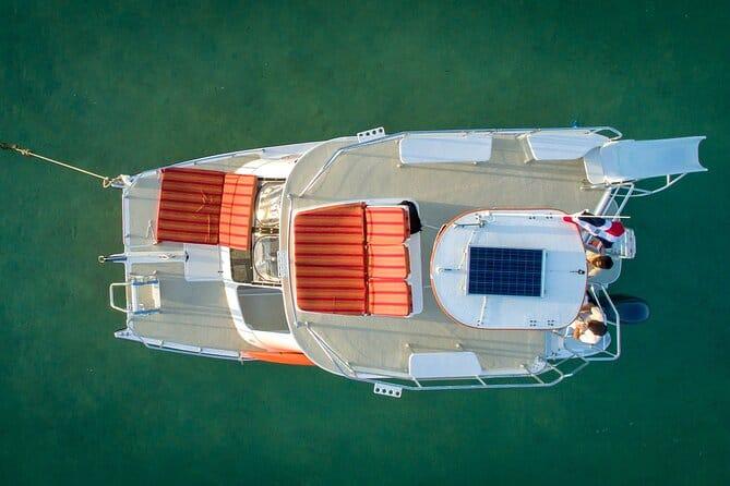 happy fish catamarans - aerial view of boat