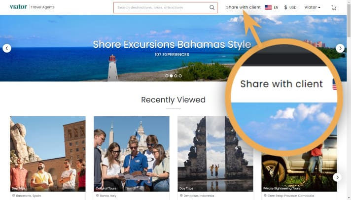 bookable link-share with client-homepage