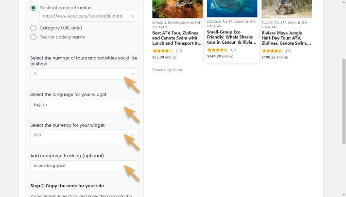 widget builder-destination-customize