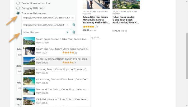 widget builder-curates list-search